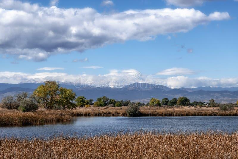 在落矶山东部的Colorado湖 库存图片