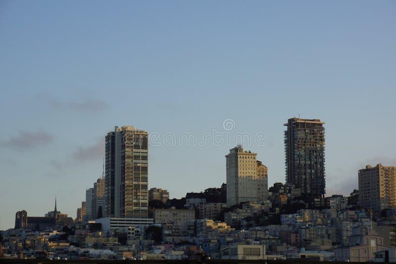在著名metropol旧金山经营的黎明 库存图片