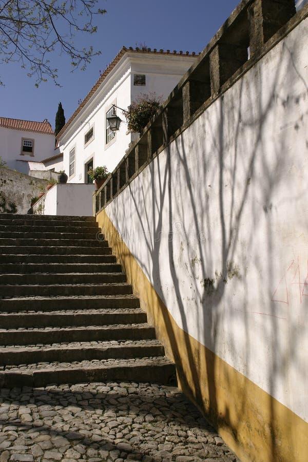 在葡萄牙步骤之外的房子 图库摄影