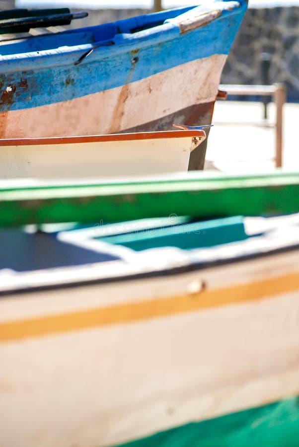 在葡萄牙的海岸的渔船 库存照片