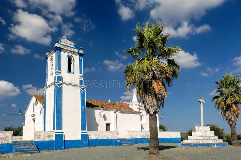 在葡萄牙附近的alentejo教堂evora 免版税库存图片