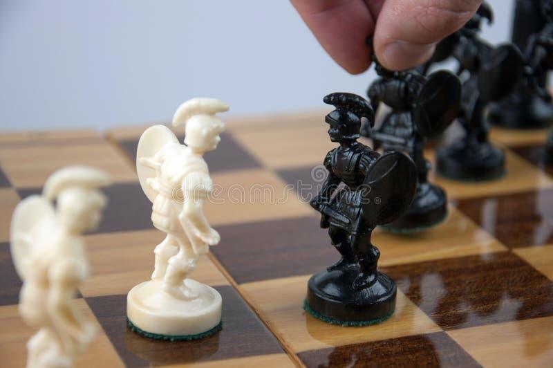 在董事会的棋子 免版税库存图片