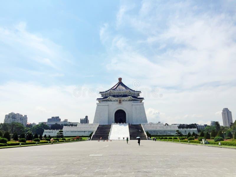 在蒋介石纪念堂CKS的晴天下午, CKSMH,台北,台湾 免版税库存照片
