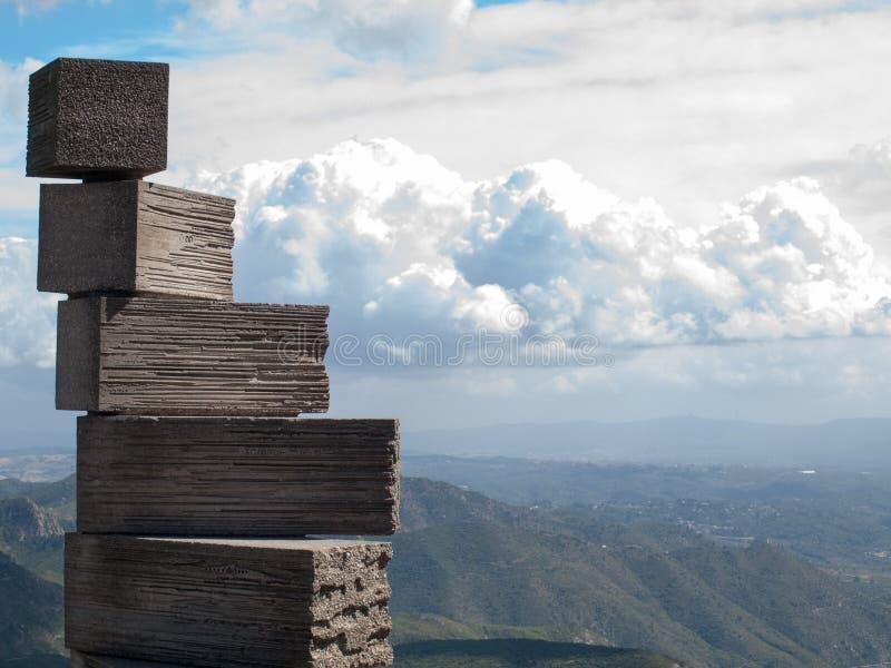 在蒙特塞拉特山的石头 图库摄影