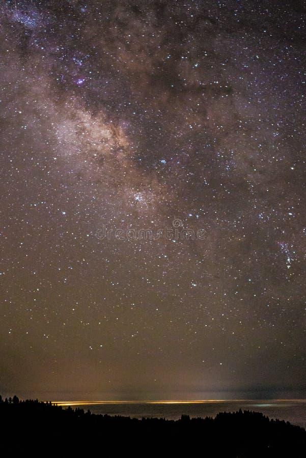 在蒙特里的galaxie 免版税库存图片