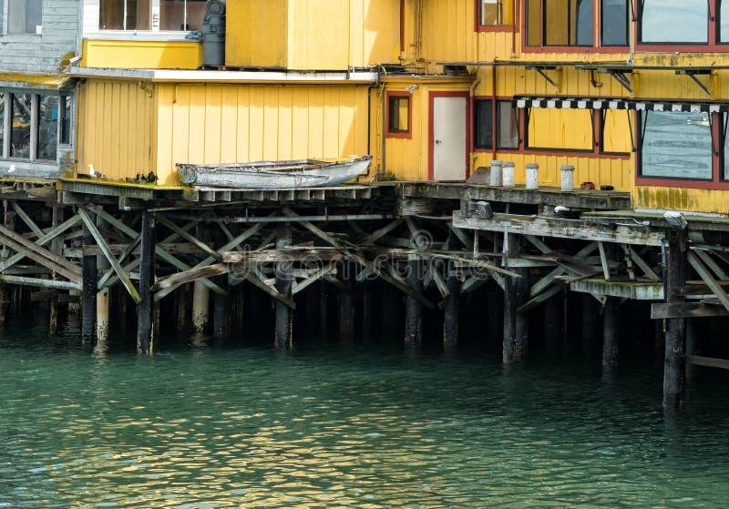 在蒙特里,加利福尼亚的码头 图库摄影