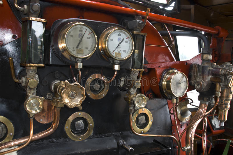 在蒸汽引擎里面 免版税图库摄影
