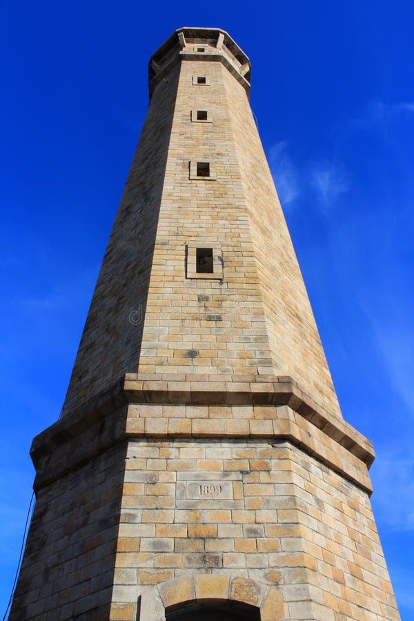 在蓝天的灯塔 库存照片