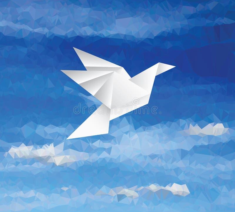 在蓝天的鸟 库存例证