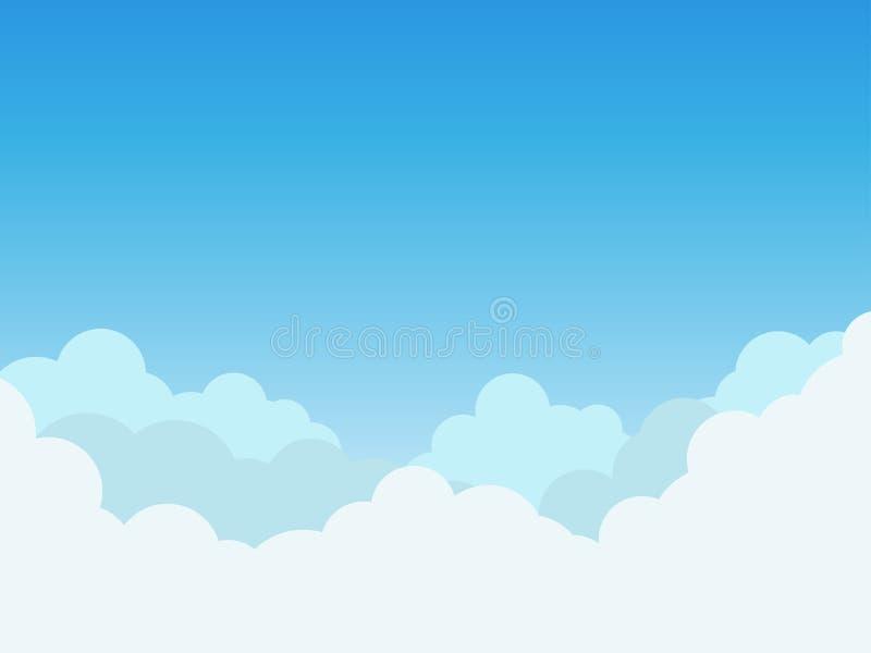 在蓝天背景的云彩 库存例证