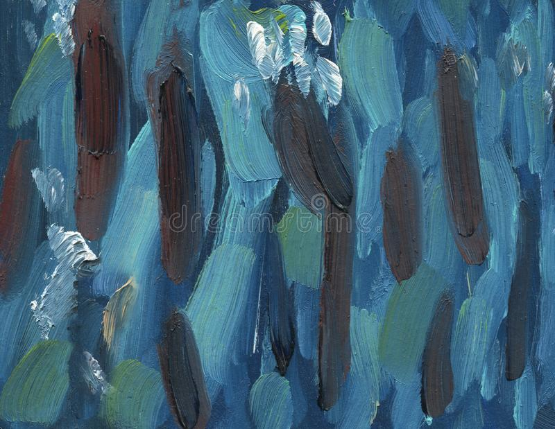 在蓝绿色口气的抽象垂直条纹 向量例证