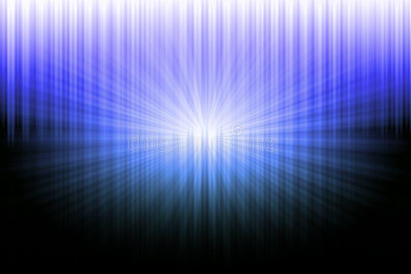 在蓝色和白光的摘要黑色 向量例证