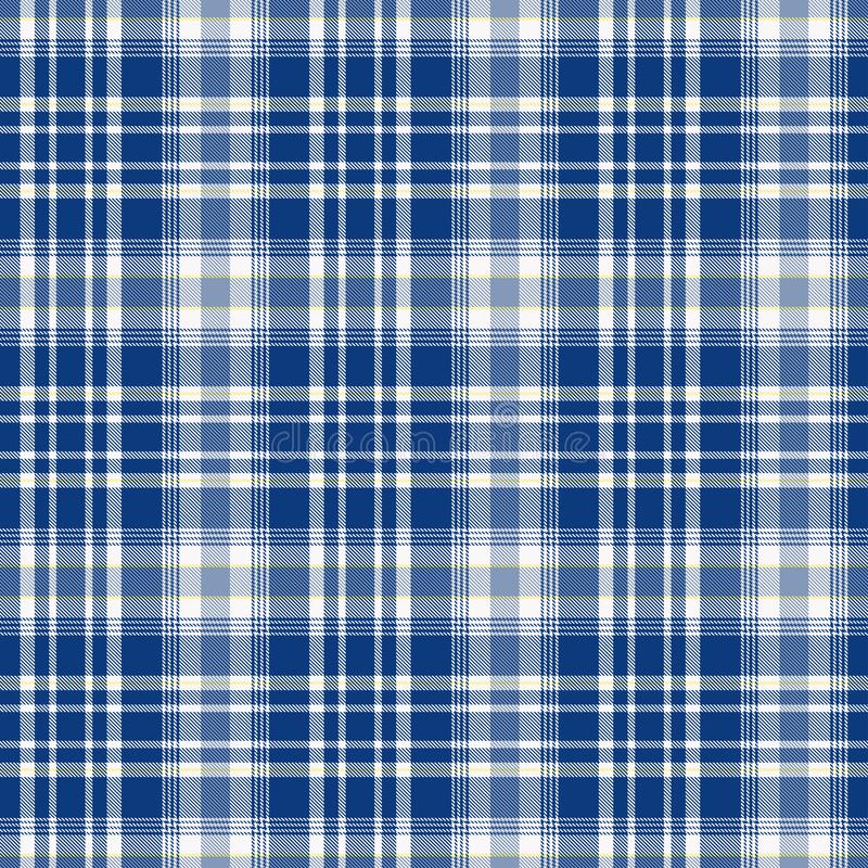 在蓝色和白色的格子呢样式 格子花呢披肩的,桌布,衣裳,衬衣,礼服,纸,卧具,毯子,被子纹理和 向量例证