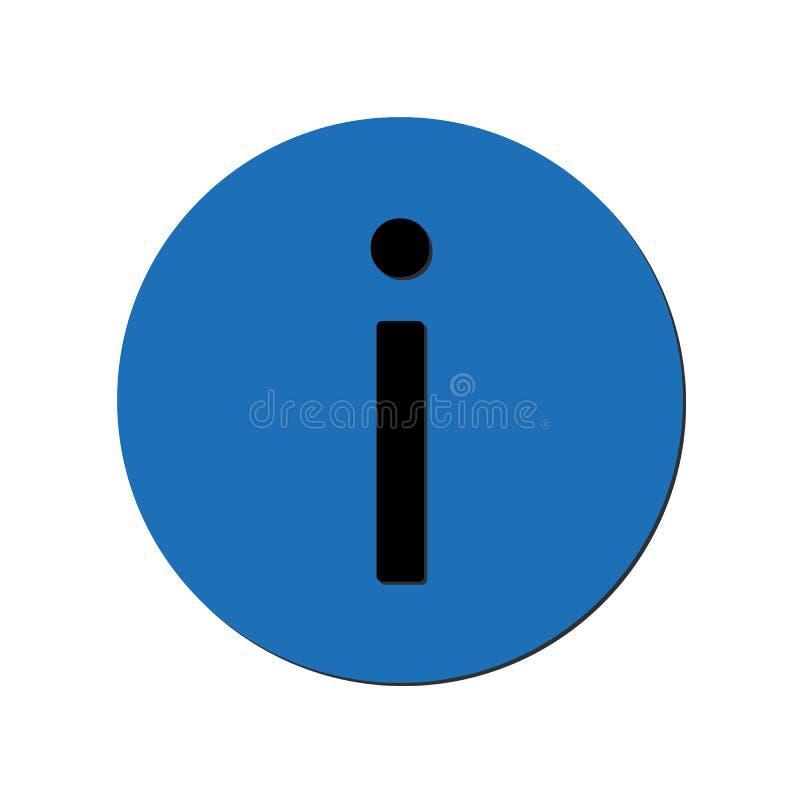 在蓝色圈子的信息象 10 eps例证盾向量 皇族释放例证