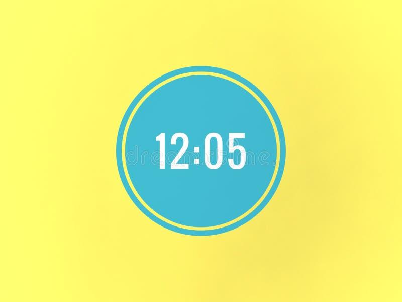 在蓝色圈子的12o五次 向量例证
