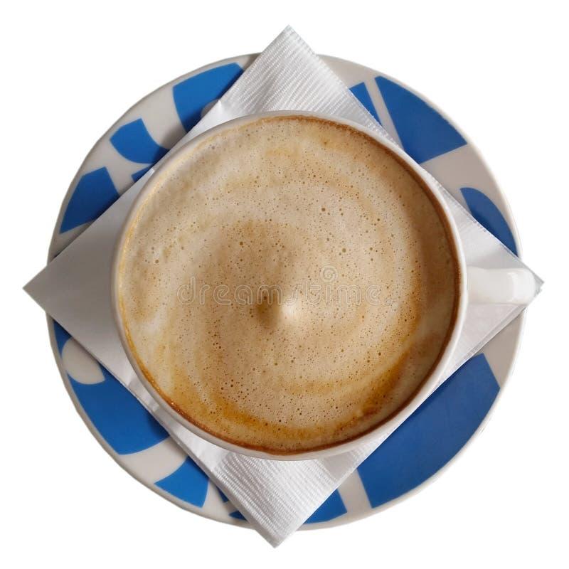 在蓝色杯1的咖啡 库存照片