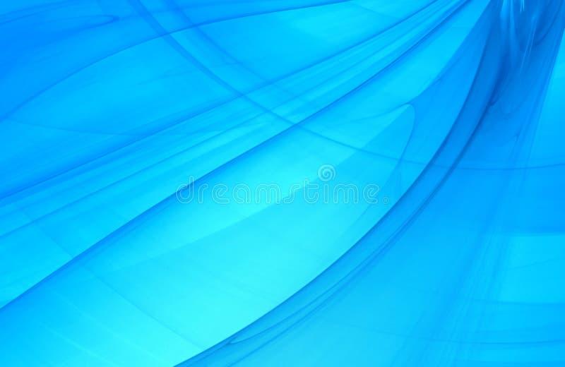 在蓝色海洋光的抽象分数维背景 皇族释放例证