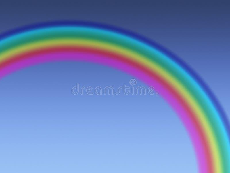 在蓝色清楚的天空的彩虹 库存例证