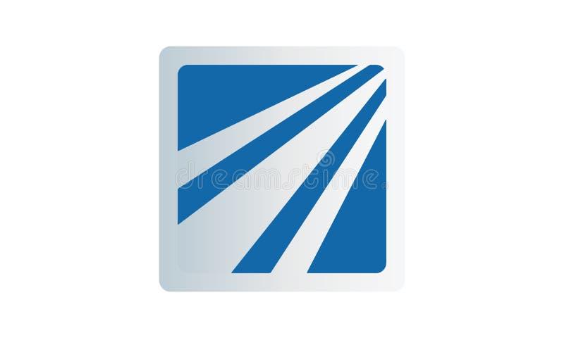 在蓝色的一个简单的轻的商标 向量例证