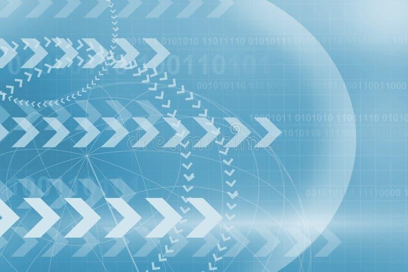 在蓝色的国际商业背景 库存例证