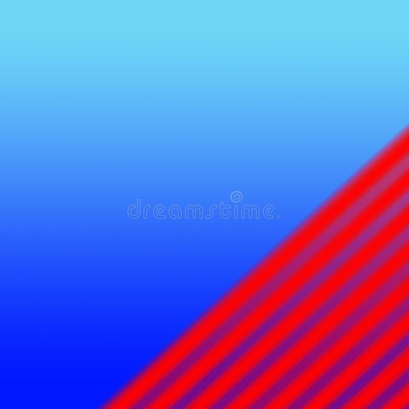 在蓝色的抽象背景红色 免版税库存图片