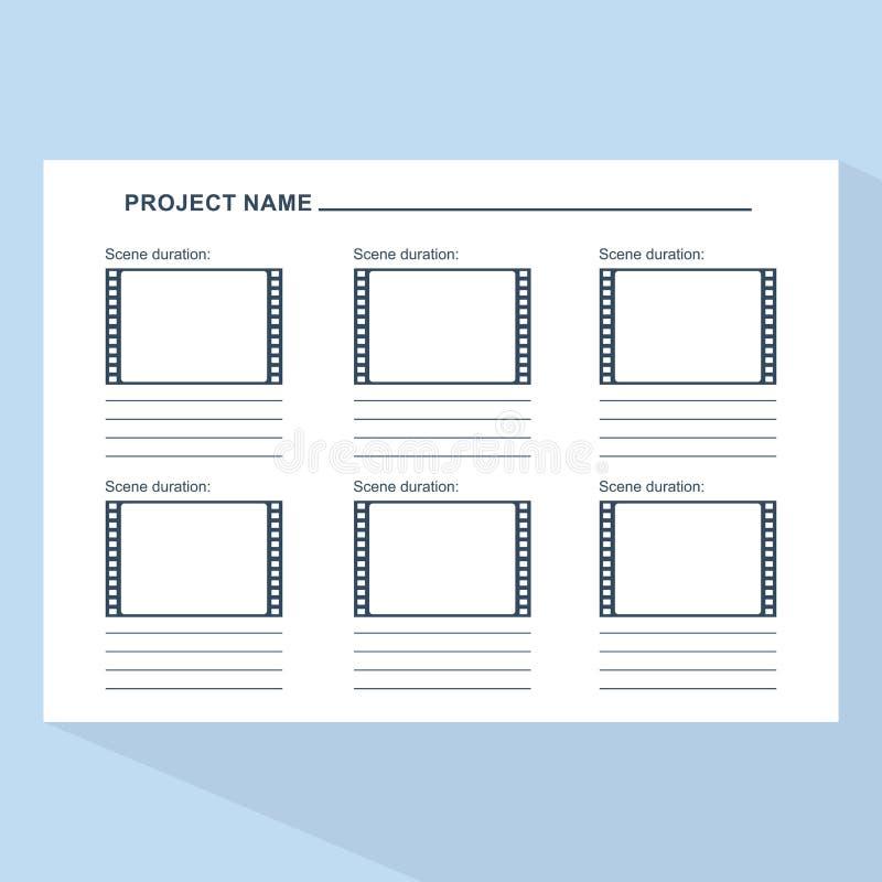 在蓝色的故事画板模板 库存例证