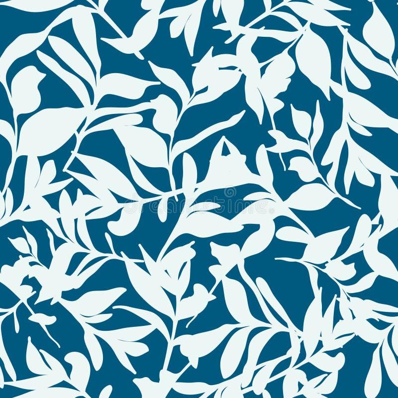 在蓝色的森林地板 免版税库存照片