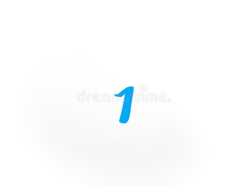 在蓝色的第一在白色背景 库存例证