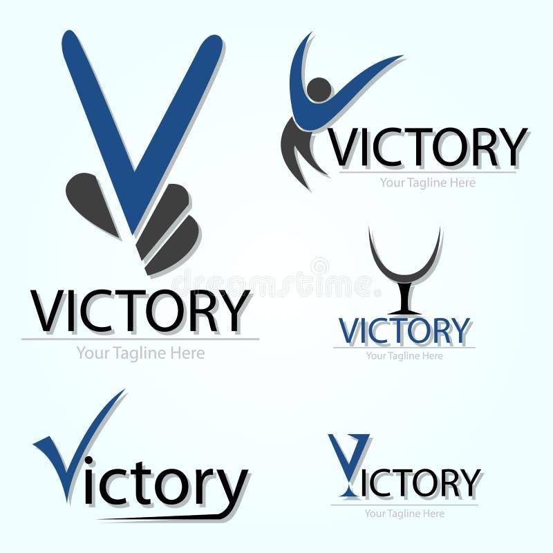在蓝色的胜利 库存例证