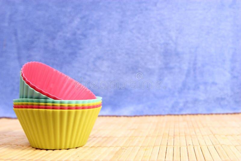 硅蛋糕盘子 库存照片