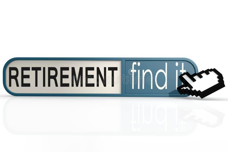 在蓝色的退休词发现它横幅 向量例证