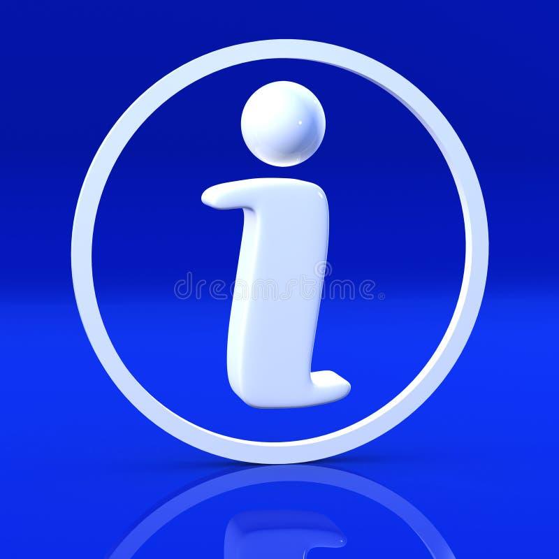 在蓝色的3d信息标志 库存例证