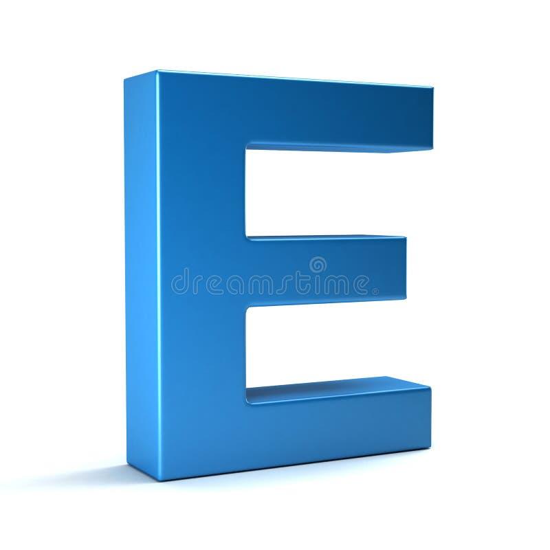 在蓝色的E信件 3d回报 皇族释放例证