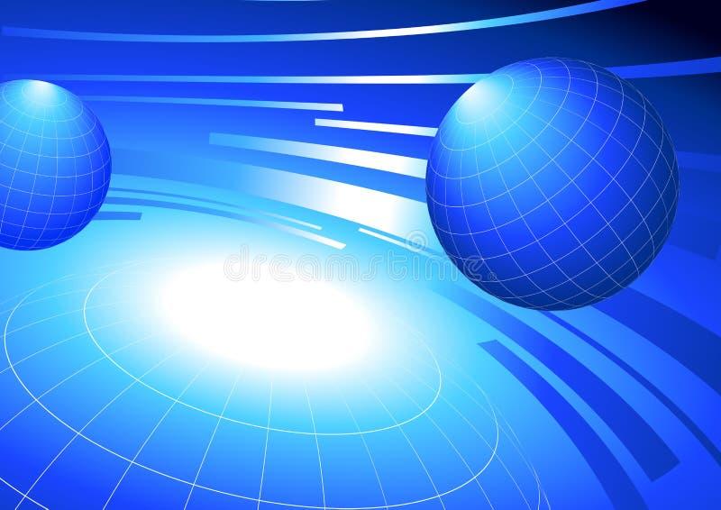在蓝色背景的地球 皇族释放例证