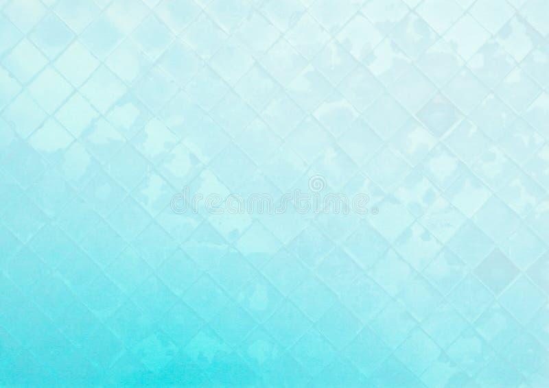 在蓝色背景的抽象玻璃墙样式 免版税库存图片