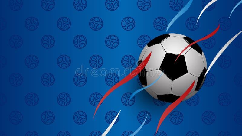 在蓝色背景的现实橄榄球 向量例证
