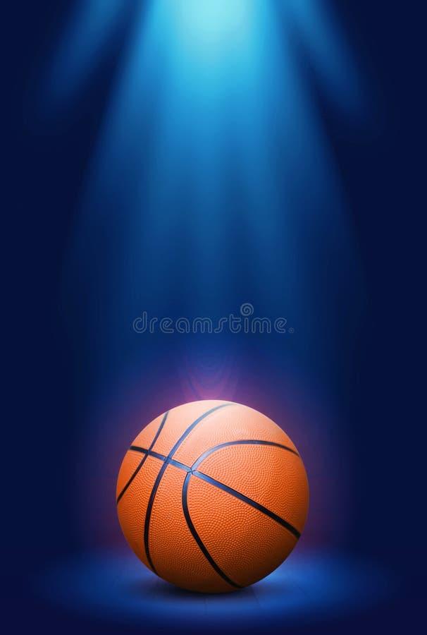 在蓝色背景的篮球