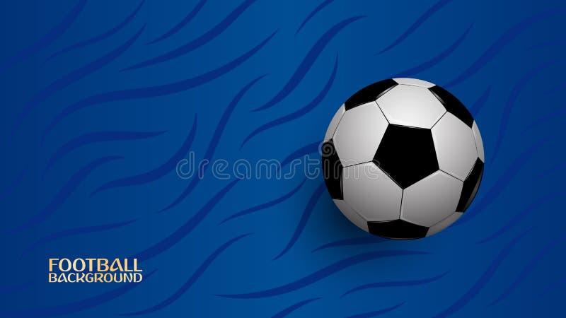 在蓝色背景,橄榄球冠军杯子的现实橄榄球 库存例证