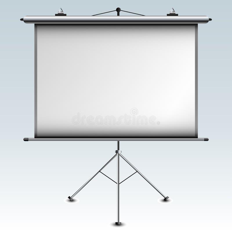 白色放映机屏幕 皇族释放例证