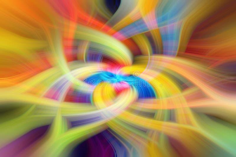 在蓝色,绿色,红色,黄色和橙色口气的抽象背景 库存照片
