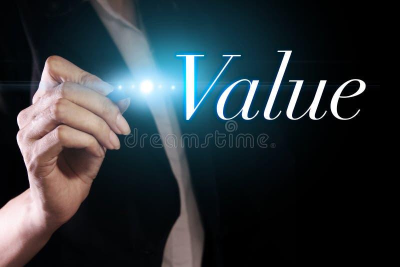 在虚屏上的价值 免版税图库摄影