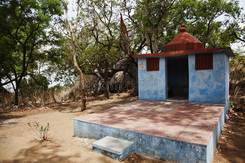 在蜜月点,莫乌恩特阿布, Sirohi区,拉贾斯坦的寺庙 免版税图库摄影