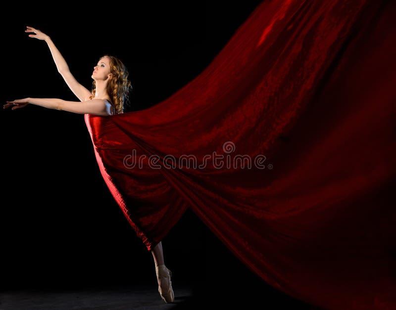 在行动的跳芭蕾舞者 免版税图库摄影