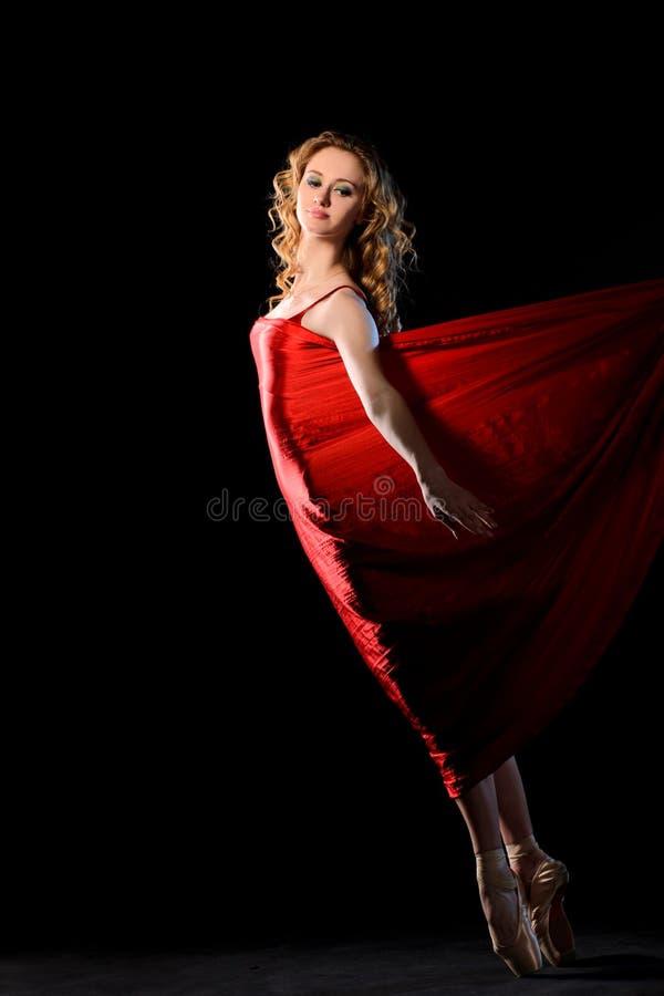 在行动的跳芭蕾舞者 库存图片