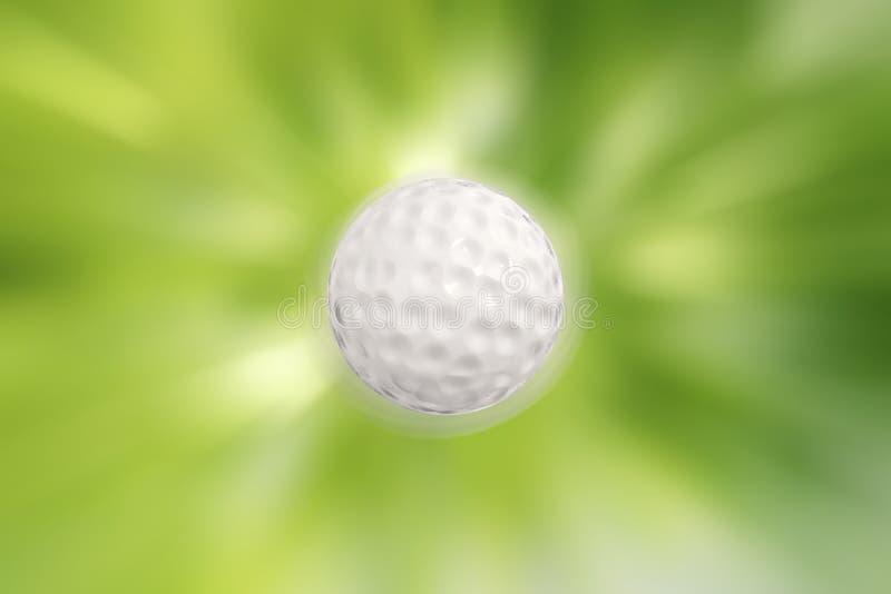 在行动的高尔夫球 库存照片