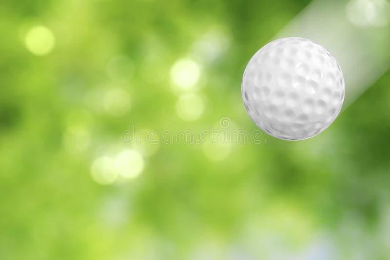在行动的高尔夫球 免版税库存图片