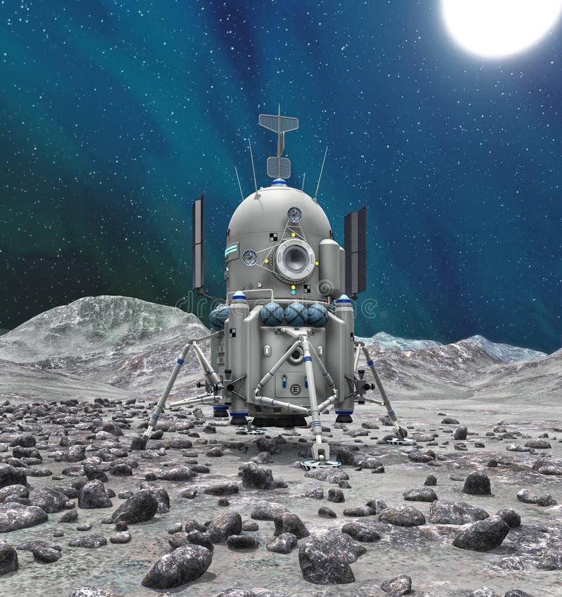 在行星或彗星的空间著陆器 皇族释放例证