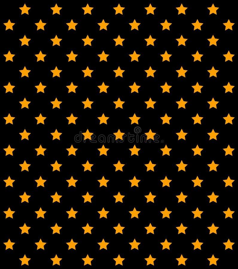 在行的抽象橙色星在白色背景 ?? 金黄五个针对性的星的几何样式,对称 皇族释放例证