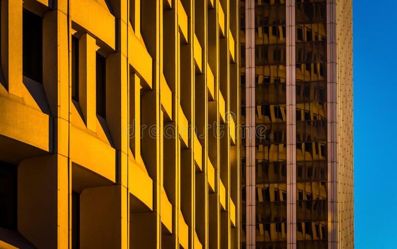在街市威明顿采取的建筑摘要,特拉华 图库摄影