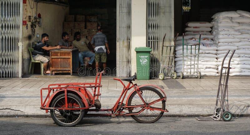 在街道上的三轮车在吉隆坡,马来西亚 免版税库存图片